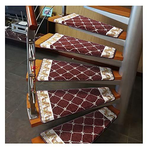 Tappeti per Scale Scala a chiocciola battistrada Mat 1pcs girare a destra Stair Moquette, gradino antiscivolo Pad Indoor Protezione Tappeto, Repeat Paste senza lasciare traccia tappeti per scale copri