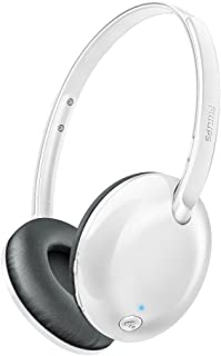 Philips SHB4405WT/00 - Auriculares (Inalámbrico, Diadema, Binaural, Supraaural, 9-22000 Hz, Blanco)