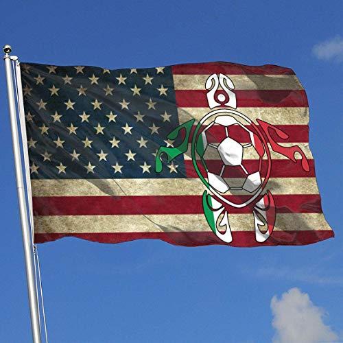 Zudrold Banderas al Aire Libre Bandera Italiana Fútbol Bandera de Tortugas Marinas para fanáticos de los Deportes Fútbol Baloncesto Béisbol Hockey