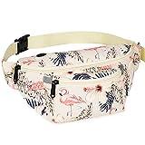 Fanny Packs for Men Women - Waist Bag Packs - Large Capacity Belt Bag for Travel Sports Hiking Large, Flamingo
