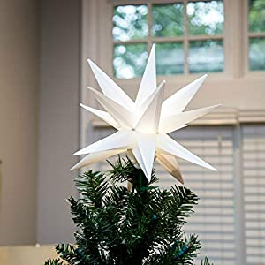 NEW 2019 MODEL - NO ASSEMBLY REQUIRED, PRESS & CLIP - Our Elf Logic hanging Christmas star light features a FAST press & clip design for EASY assembly - it will be your favorite Christmas decoration to put up this holiday season! DUAL PURPOSE CHRISTM...