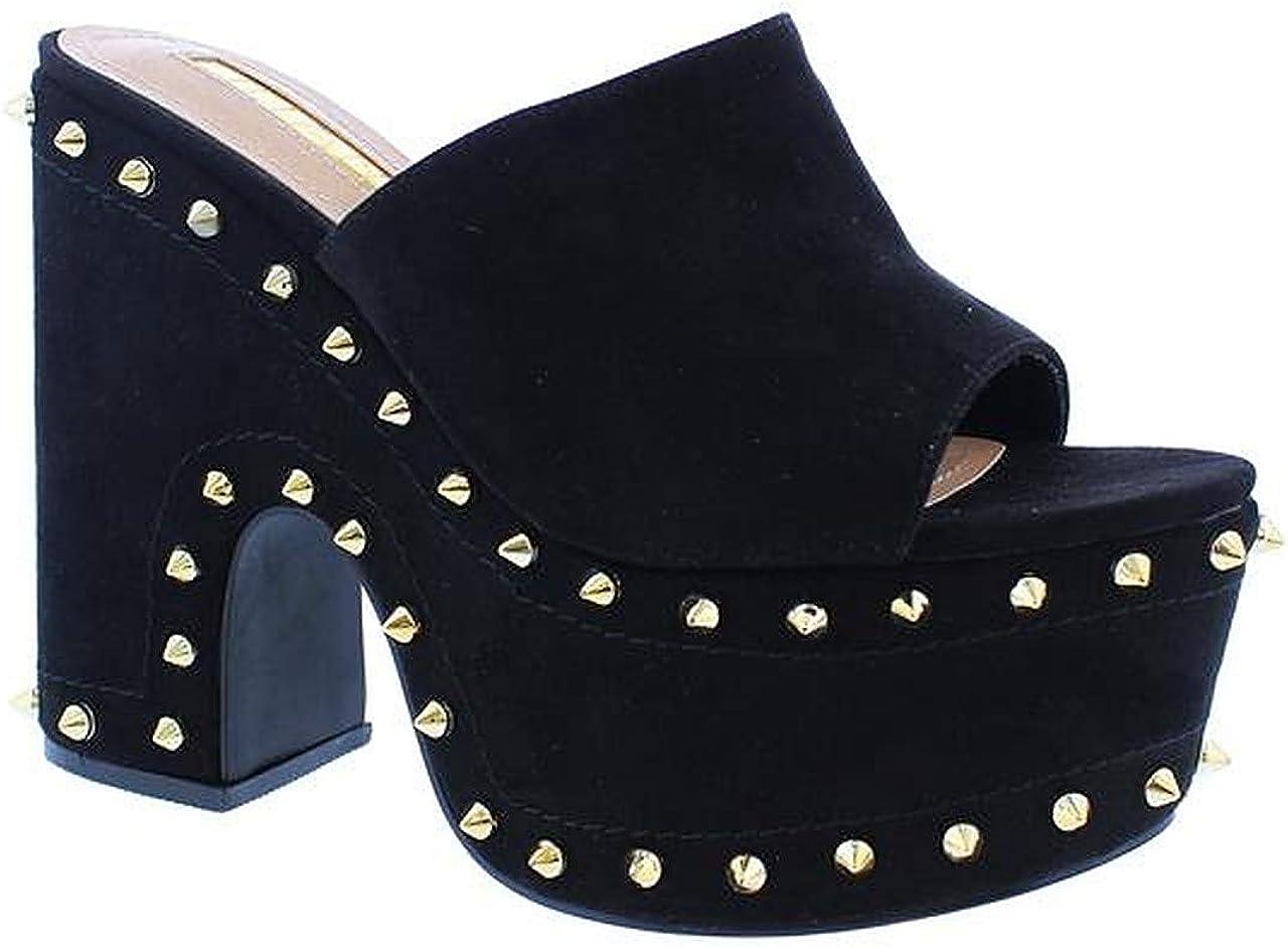 Liliana Open Toe Platform Wedge Heel Slide Mule Sandal