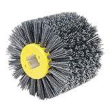 EXLECO Nylonbürste #240 Körnung Drahtziehrad Pinsel Polierbürste für Satiniermaschine Schwarz Schleifbürste Borstenbürste Grit Bürste