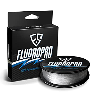 FISHINGSIR FluoroPro 100% Pure Fluorocarbon Coated Fishing Line - Low Stretch High Strength Clear Fluorocarbon Fishing Line from OneStone