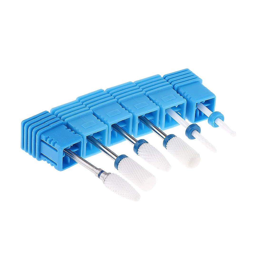 メタンジェムすずめSM SunniMix 6個 プロフェッショナル ネイルドリルビット ネイルケア用