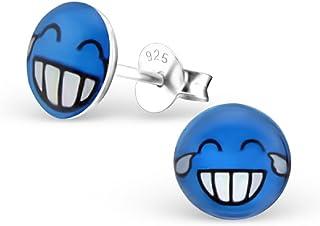 Laimons Boucles doreilles pour enfant Motif smiley sur le visage et le visage joyeux
