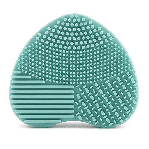 Gant en silicone de nettoyage pour pinceaux cosmétiques Vert