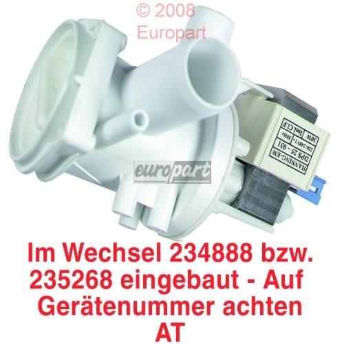 Ablaufpumpe Pumpe Waschmaschine Magnettechnik 30 Watt HANNING BALAY BOSCH SIEMENS CONSTRUCTA NEFF KÃœPPERSBUSCH 141326