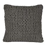 Nielsen Kissenbezug Marlin grob gestrickt, 50x50 cm, Antik Grau, 100% Baumwolle, Strick, Ökotex,...