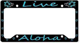 CafePress Aluminum &Quot;Live Aloha&Quot; Honu License Plate Aluminum License Plate Frame, License Tag Holder