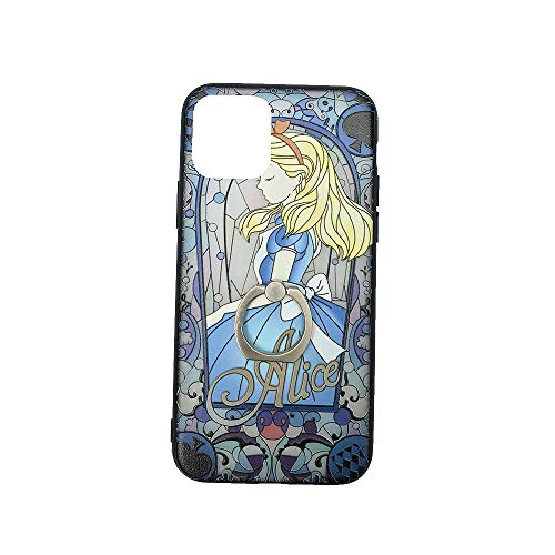 for iPhone 11 Protective Skins,Princess Alice in Wonderland Soft Frame/Hard Back Embossed Craft/Ultra-Light Protective Shell Case