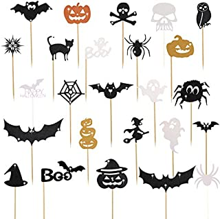75 Pieces Halloween Cupcake Toppers Cupcake Picks Halloween Cupcake Decorations for Halloween Birthday Party Supplies
