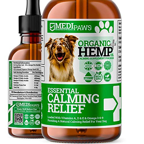 MediPaws® Hemp Oil For Dogs | Natural Organic Hemp Oil Drops For Dogs | Pet Hemp Oil Supports...
