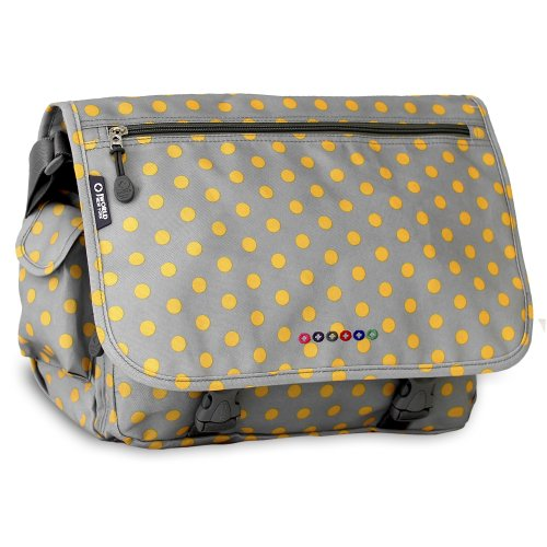 J World New York Terry Messenger Bag, Candy Buttons, One Size