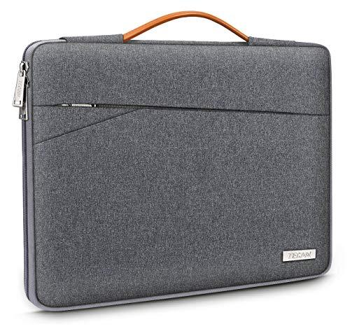 TECOOL 14 Zoll Laptop Hülle Notebook Tasche Stoßfest Tragetasche Schutzhülle mit Griff für 14 Zoll Acer/Asus/Dell/HP/Huawei/Lenovo Notebooks Ultrabooks Netbooks, Dunkelgrau