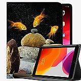 para la Cubierta de la Caja de iPad Pro 9.7, Fish Aquarium Rocks Black Case Slim Shell Cover para iPad Pro 9.7 A04