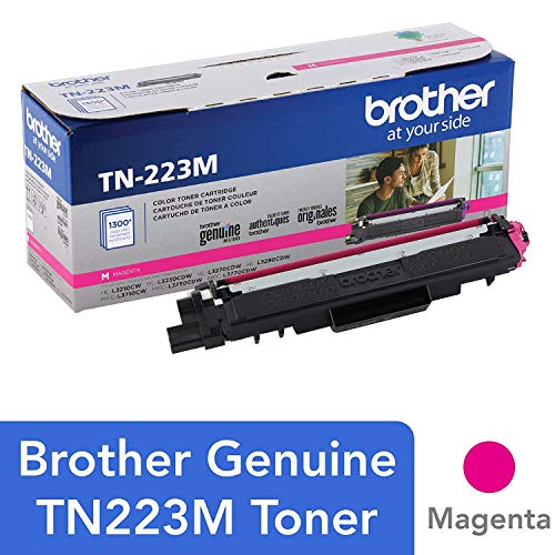 Genuine , Standard Yield Toner Cartridge,  Replacement Magenta Toner, Page Yield Up to 1,300 Pages, TN223, Amazon Dash Replenishment Cartridge - Brother tn223m