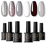 Soft gel polish set-6 colores caramelo absorbible Macaron gel esmalte de uñas UV LED gel barniz juego de uñas 10ml ...