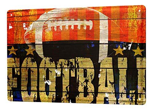 LEotiE SINCE 2004 Blechschild M. A. Allen Retro US Deko American Football Sport Nostalgie Werbung 20x30 cm Metallschilder Küche Garage Reklame