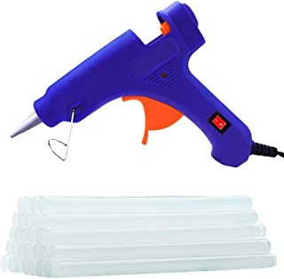 Hot Glue Gun Mini 20W Power Glue Gun with with 40PCS Glue Sticks(Diameter 0.27in), DIY Craft Projects (Small)