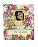K&Company Frame-A-Name Scrapbook, 8.5 by 11-Inch, Pink Floral