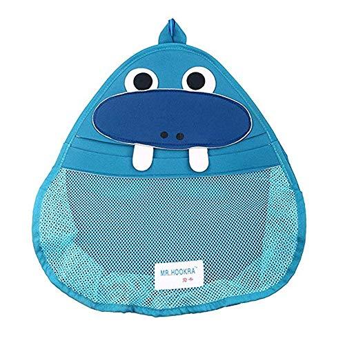 TROYSINC Badewannenspielzeug Aufbewahrung Badespielzeug Netz Badewannen Spielzeug Aufbewahrungstasche mit 1 Weißer Saugnapfe,Befestigung Ohne Bohren (Walross)