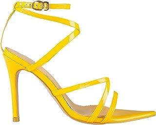 Women's Fashion Strappy High Heel Sandals - Pointy Open Toe Cross-Strap Stilettos