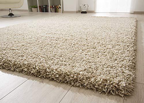 Ragolle Shaggy Hochflor Teppich Twilight | Dicker elastischer Flor für das Wohnzimmer in Creme 6926 meliert 2211, Größe: 160x230 cm