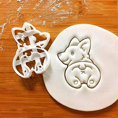Corgi Butt Cookie Cutters Funny Plastic 3D Biscuit Cutter Stamp Sugar Molds For Kids French Bulldog Dog Cookie Cutter(A)