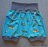 Pumphose kurz Sommer Surfercamp Bulli Handmade Babyhose Jersey Jungen 56/62,68/74,80/86/92,98/104,110/116