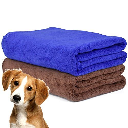 Legendog Toallas Baño, 2Pcs Toallas de Baño, Azul Toallas Baño, Toalla Microfibra Ultra Absorbente para Agua de Secado