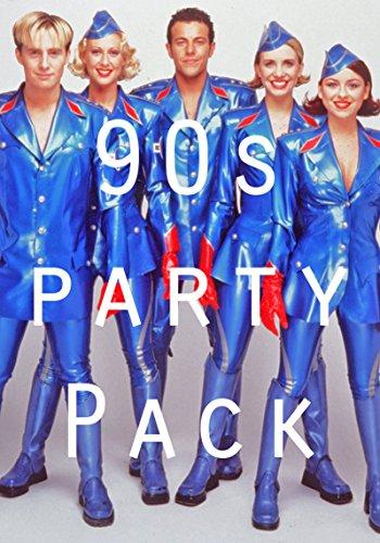 90er Jahre Partydekorationen: Poster, Luftballons, Wimpelkette usw.
