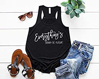 Everythings Gonna Be Alright Country Girl Shirts Country Concert Music Shirts for Women Concert Outfit
