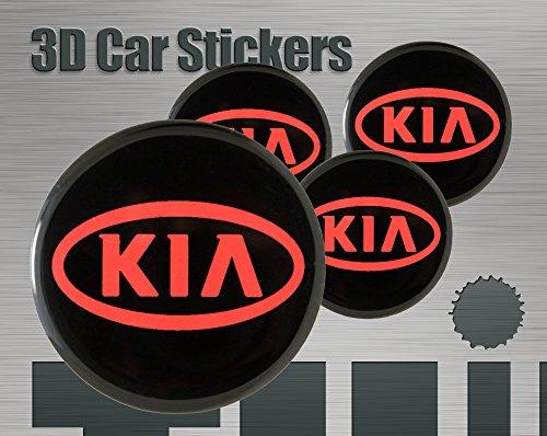 Think Ink 3D Aufkleber 4 STK. Logo Imitation Alle Größen Mittelkappen Radkappen (53 mm)