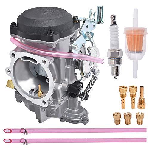 munirater Carburetor Rebuild 40 mm Replacement for Harley Davidson Big Twin Sportster 883 1200 Electra Glide H-D Dyna XL883 XL 883 CARB XLH883 27490-04