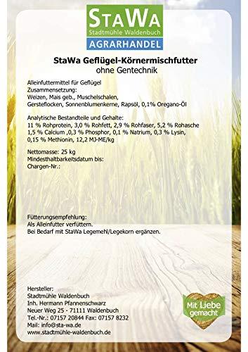 StaWa Hühnerfutter Geflügelkörnerfutter Körnerfutter 25kg !!!GVO frei!!! - 5