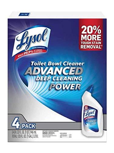 Lysol Advanced Toilet Bowl Cleaner 4/32 Fl Oz Net Wt 128 Fl Oz