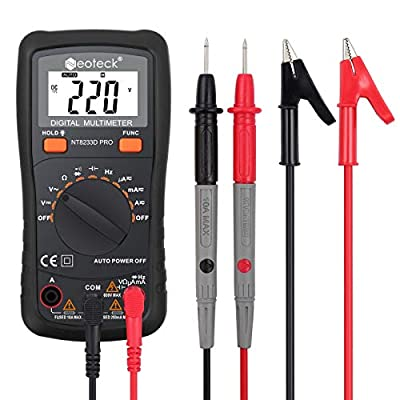 Neoteck Digital Multimeter Pocket Multi Tester 2000 Counts Auto Range Diode Voltage Tester Meter-DC Current Resistance Transistor Audible Continuity Tester with Backlit LCD