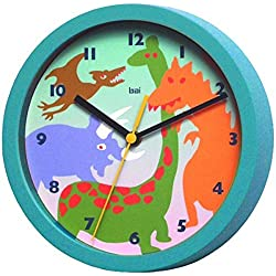BAI Children Wall Clock, Dinosaurs