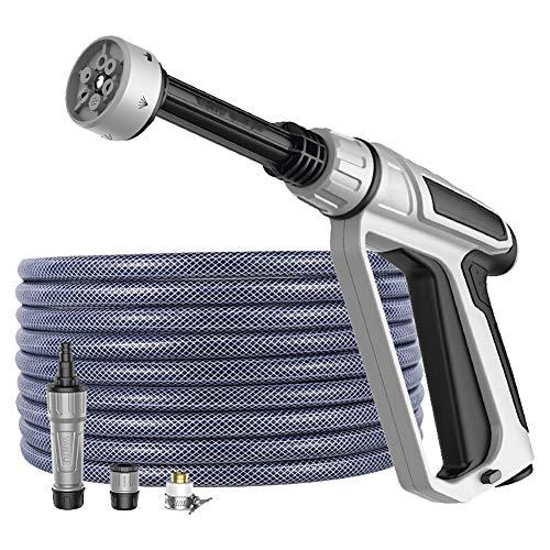 Multifunctioneel Autowaswaterpistool 10m Pvc-buis Tuinieren Besproeiingspistool Meerdere Soorten Hogedrukspuit