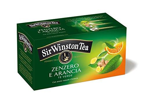 Sir Winston Tea Tè Verde, Zenzero e Arancia, 20 Filtri