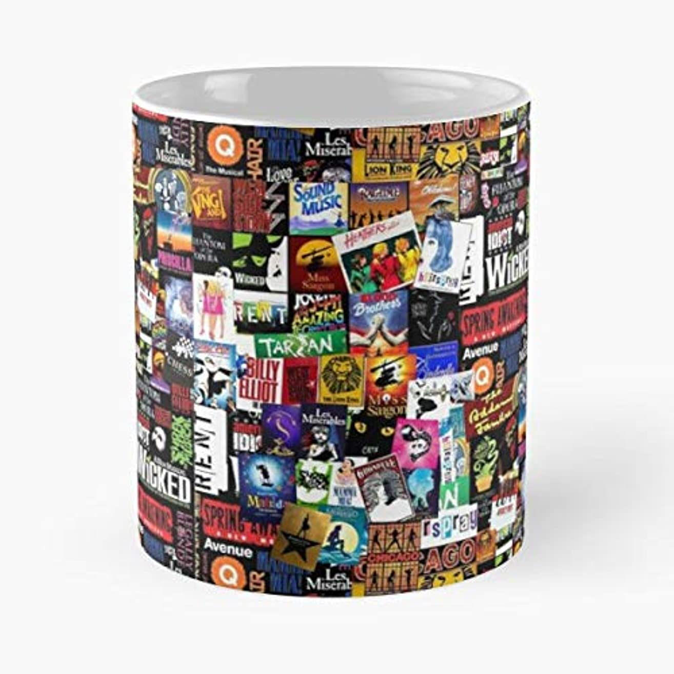 Musicals Broadway Westend London - 11 Oz Coffee Mugs Unique Ceramic Novelty Cup, The Best Gift For Christmas.