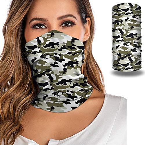 MIRRAY Unisex Bandana Neck Gaiter Tube Kopfbedeckung für Frauen Männer Gesicht Schal Munddeckeldichtungssatz Gesichtsmaske Mundbedeckung