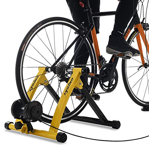UNIKSY Turbo Trainer Bike Trainer Stand Indoor Exercise Bicycle Training Stand Magnetic Riding Stand with 6 Level Resistance for Mountain & Road Bike
