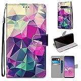 Miagon Flip PU Leder Schutzhülle für Samsung Galaxy S10 Plus,Bunt Muster Hülle Brieftasche Case...