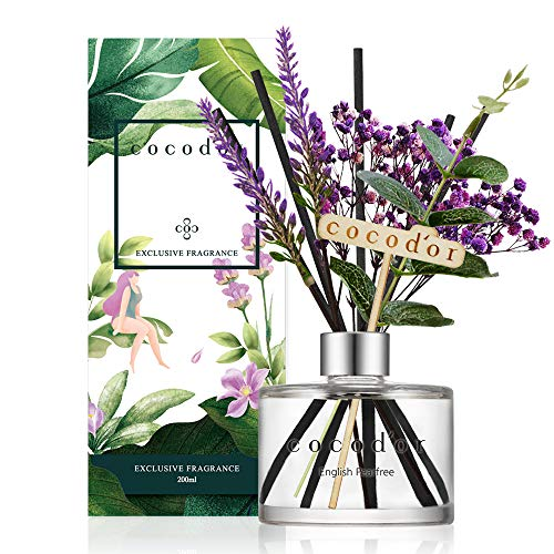 Cocodor Lavender Reed Diffuser/English Pearfree / 6.7oz(200ml) / 1 Pack/Home Decor & Office Decor, Fragrance and Gifts