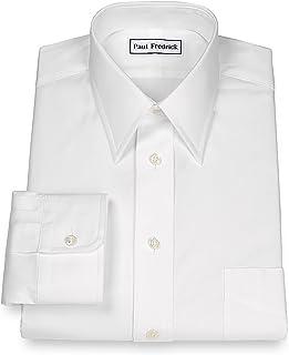 Men's Pinpoint Straight Collar Button Cuff Dress Shirt