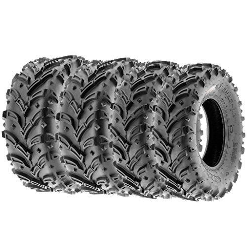SunF 25x8-12 25x10-12 ATV UTV Tires 6 PR Tubeless A024-1 [Bundle]