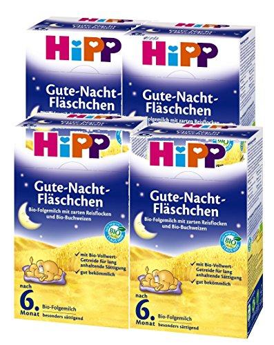 Hipp Bio Goodnight-flesjes, na de 6e maand, 4-pack (4 x 500 g)