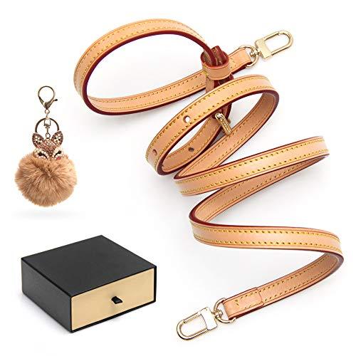 SMART DK Vachetta Leather Strap Adjustable Crossbody Strap for Small Bags Pochette Mini NM Eva Favorite PM MM Nano Speedy with Gift Box